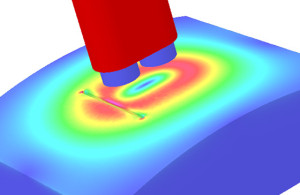 Simulation der Wirkweise einer ibg Differenzsonde an einem 3 mm langen erodierten EDM-Fehler